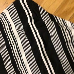 J. Crew Black and white striped maxi skirt